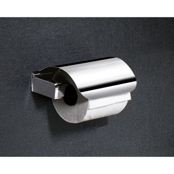 Toilet Paper Holder, Contemporary, Chrome, Brass, Gedy Kent, Gedy 5525-13