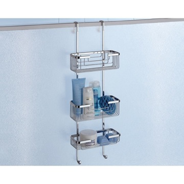 Shower Basket Over-the-Door Triple Shower Basket 5684-13 Gedy 5684