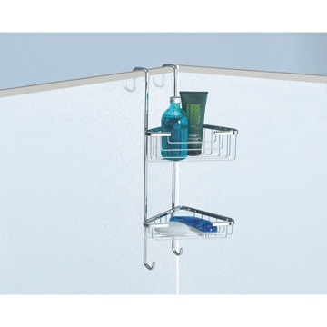 Over-the-Door Corner Double Shower Basket