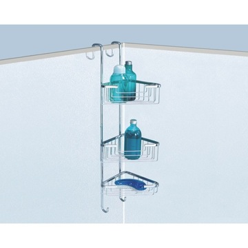 Shower Basket Over-the-Door Corner Triple Shower Basket 5686-13 Gedy 5686