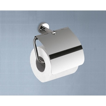 Toilet Paper Holder, Contemporary, Chrome, Brass, Gedy Naxos, Gedy 6525-13