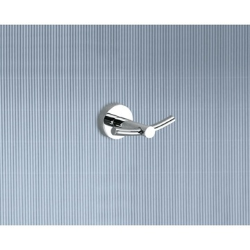 Bathroom Hook Chrome Double Hook 6526-13 Gedy 6526-13