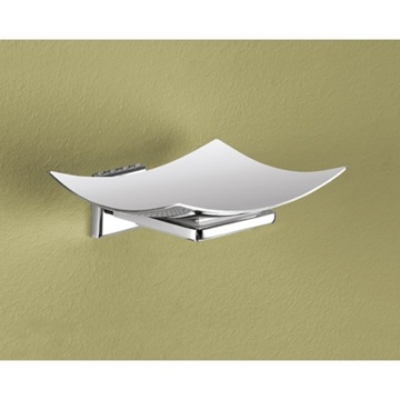 Wall Mounted Curved Polished Chrome Soap Dish