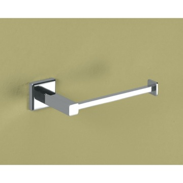 Toilet Paper Holder, Contemporary, Chrome, Brass, Gedy Colorado, Gedy 6924-13