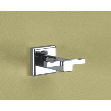 Bathroom Hook Polished Chrome Double Hook 6928-13 Gedy 6928-13