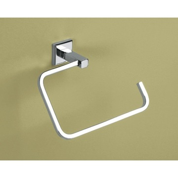 Polished Chrome Square Towel Ring