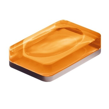Orange Rectangle Countertop Soap Dish