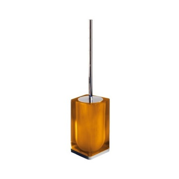 Orange Modern Square Toilet Brush Holder
