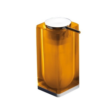 Orange Square Counter Soap Dispenser