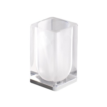 Transparent Square Toothbrush Holder