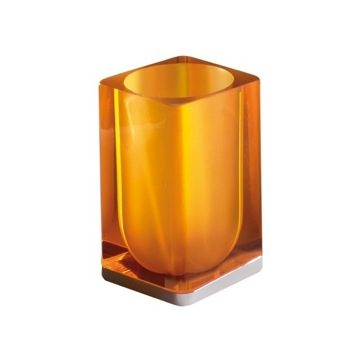 Orange Square Toothbrush Holder