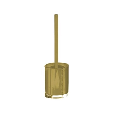 Gold Toilet Brush Holder with Crystals