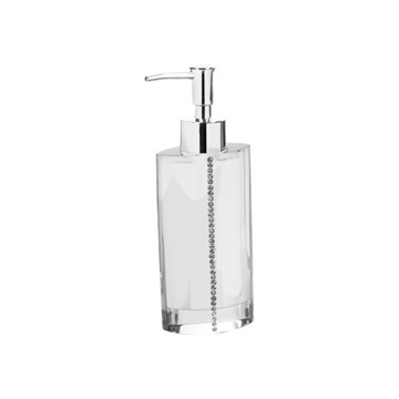 White Countertop Soap Dispenser with Crystals