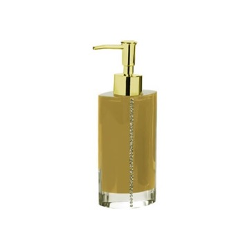 Gold Countertop Soap Dispenser with Crystals