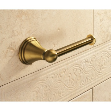 Toilet Paper Holder, Classic, Bronze, Thermoplastic Resins, Gedy Romance, Gedy 7524-44