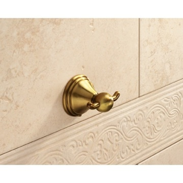 Bathroom Hook Classical Bronze Double Hook 7526-44 Gedy 7526-44