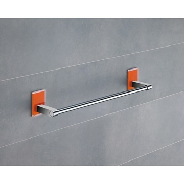 14 Inch Orange Mounting Polished Chrome Towel Bar