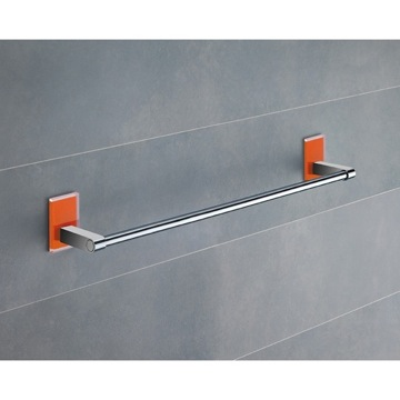 18 Inch Orange Mounting Polished Chrome Towel Bar