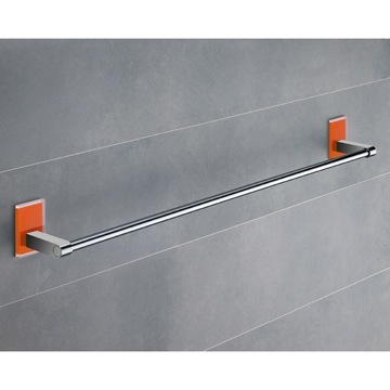 24 Inch Orange Mounting Polished Chrome Towel Bar