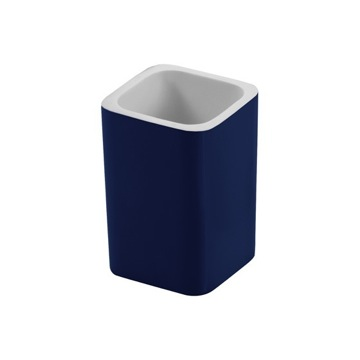 Square Blue Toothbrush Holder