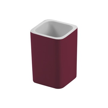 Square Ruby Red Toothbrush Holder