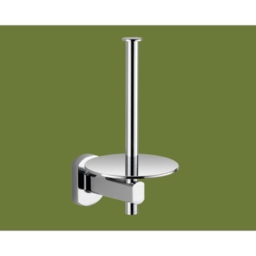 Toilet Paper Holder, Contemporary, Chrome, Brass, Gedy Edera, Gedy ED24-02-13