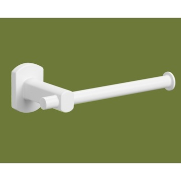Toilet Paper Holder, Contemporary, White, Brass, Gedy Edera, Gedy ED24-02