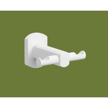 Bathroom Hook Lacquered White Double Hook ED26-02 Gedy ED26-02