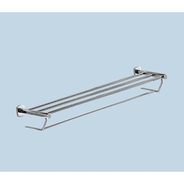Polished Chrome Towel Shelf With Towel Bar