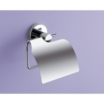 Chrome Toilet Paper Holder With Cover FE25-13