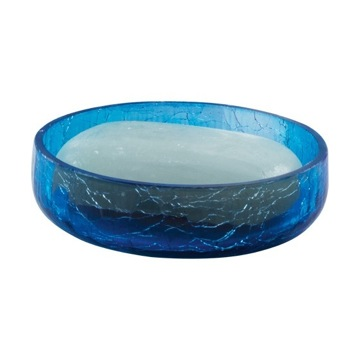 Gedy gi11 11 soap dish ginestra nameek 39 s for Blue crackle glass bathroom accessories