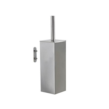 Wall Mounted Square Polished Chrome Toilet Brush Holder