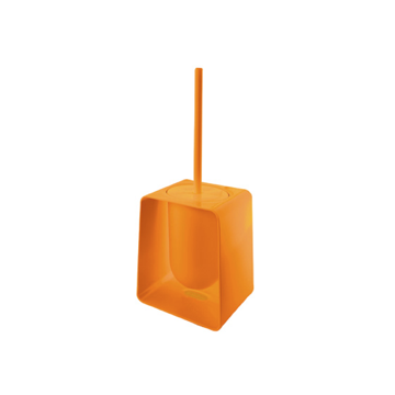 Square Orange Toilet Brush Holder