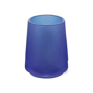 Round Blue Toothbrush Holder or Tumbler