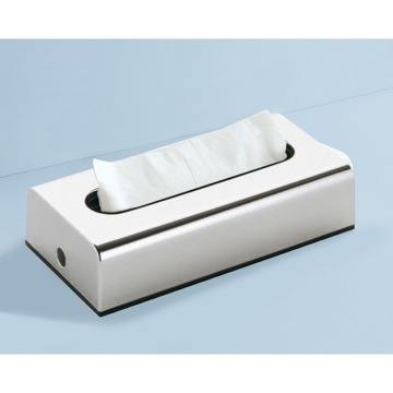 Tissue Box Cover, Contemporary, Chrome, Thermoplastic Resins, Gedy Sector-Range, Gedy 2008-13