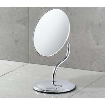 Makeup Mirror Chrome Round 3x Magnifying Mirror 2102-13 Gedy 2102-13