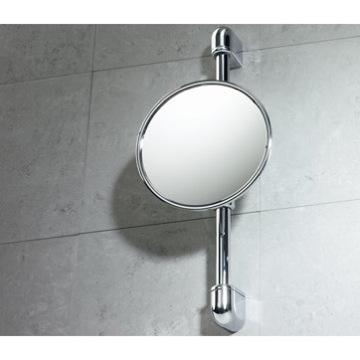 Makeup Mirror Wall Mounted Chrome 2.5x Magnifying Mirror 2108-13 Gedy 2108-13