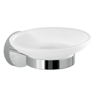 Frosted Glass Soap Dish With Wall Mount