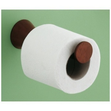 Toilet Paper Holder, Contemporary, Mahogany, Wood, Gedy Oregon, Gedy 2324-20