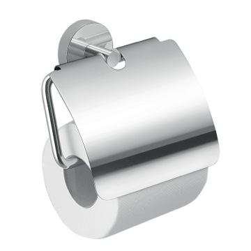 Toilet Paper Holder, Contemporary, Chrome, Cromall,Stainless Steel, Gedy Eros, Gedy 2325-13