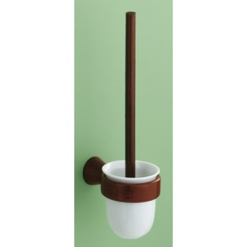 Wall Mounted Mahogany Toilet Brush Holder