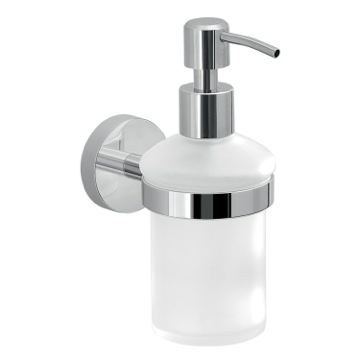 Frosted Glass Soap Dispenser With Wall Mount