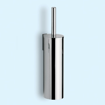 Cylindric Chrome Wall Mounted Toilet Brush Holder