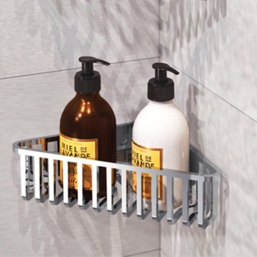 Chrome Corner Shower Basket