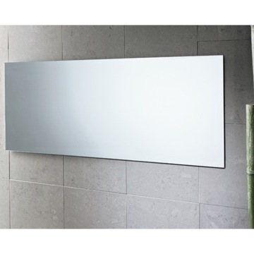 Vanity Mirror Polished Edge Mirror with Vertical and Horizontal Mounting 2552-13 Gedy 2552-13