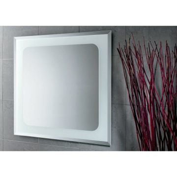 Vanity Mirror Square Mirror with Sandblasted Frame 2596 Gedy 2596