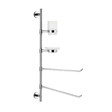 Wall Mounted Three-Function Chrome Butler