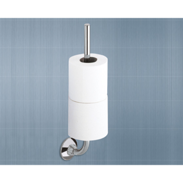 Toilet Paper Holder, Contemporary, Chrome, Cromall, Gedy Ascot, Gedy 2724-03-13