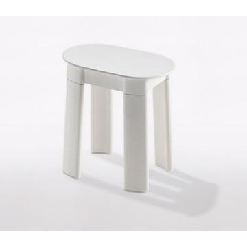 Bathroom Stool White Oval Floor Standing Bathroom Stool 2872 02 Gedy