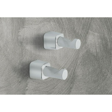 Two Satin Nickel Robe Hook(s)